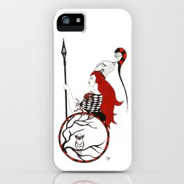 The Lady Athena, Goddess of Wisdom and War iPhone Case