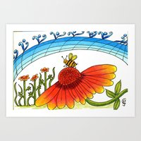 The music of the bees Art Print