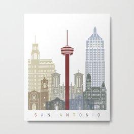 San Antonio skyline poster Metal Print