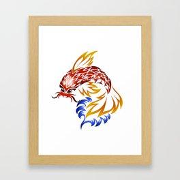 Jumping Koi Framed Art Print