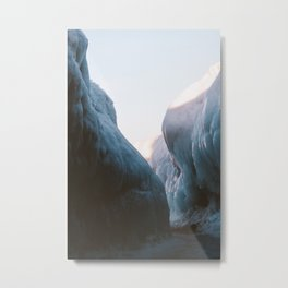Frozen Lake Michigan Metal Print