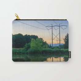 Power Pylons Over A River Carry-All Pouch