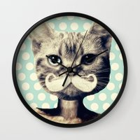 kitten Wall Clocks featuring Kitten by zumzzet
