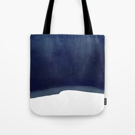 Minimal Navy Blue Abstract 02 Landscape Tote Bag
