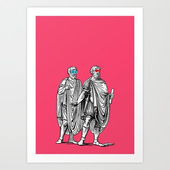 Classic men have a party Art Print
