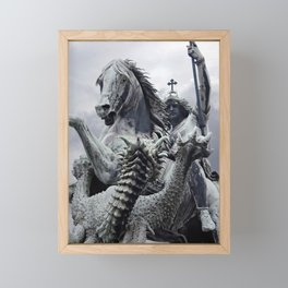 The Slaying Of The Dragon Framed Mini Art Print
