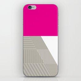 Minimal Triangles Magenta iPhone Skin