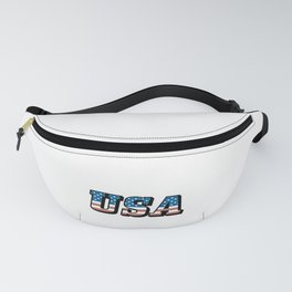 USA American Flag Stars and Stripes Patriotic 4th of July Gift Fanny Pack