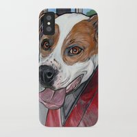 pit bull iPhone & iPod Cases featuring Pit Bull Joy Ride by WOOF Factory