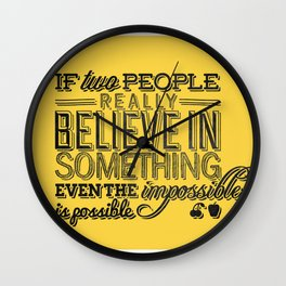 Impossible is possible Wall Clock