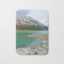 Medicine Lake in Jasper National Park, Canada Bath Mat