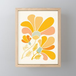 Summer Wildflowers in Golden Yellow Framed Mini Art Print