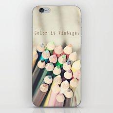 Color it Vintage iPhone & iPod Skin
