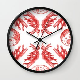 In Vitro Meat Pattern I Wall Clock