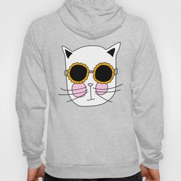 Cat Sunflower Glasses Hoody