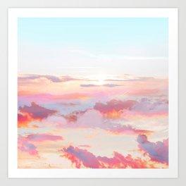 Blush Clouds #digital #photography Art Print
