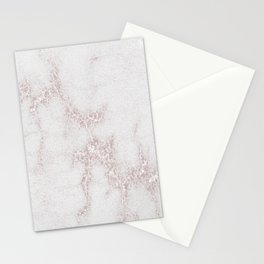 Marble Pattern Silver Rosé Stationery Cards