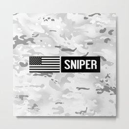 U.S. Military: Sniper (Arctic) Metal Print