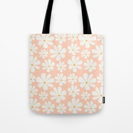 Floral Daisy Pattern - Peach Pink Tote Bag