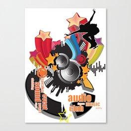musical material Canvas Print