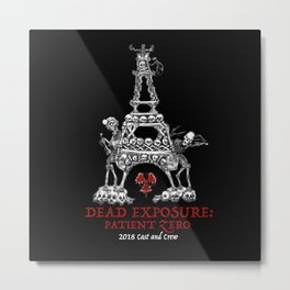 Dead Exposure: Patient Zero (Eiffel Tower) Metal Print
