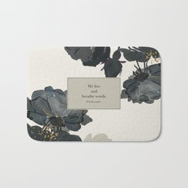 We live and breathe words. Will Herondale. Clockwork Prince. Bath Mat