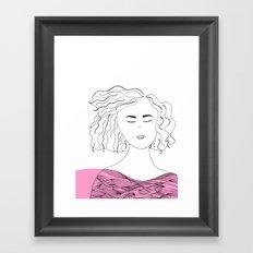 Messy hair II. Framed Art Print