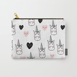 Unicorn pattern with hearts Carry-All Pouch