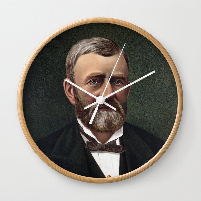 President Ulysses S Grant Wall Clock By Warishellstore Society6