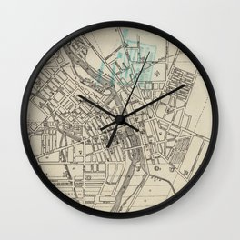 Vintage Map of Rochester NY (1838) Wall Clock