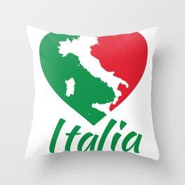 Italia Heart - I Love Italy Throw Pillow