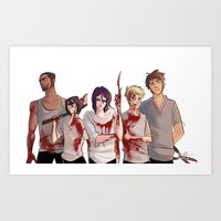 kuroko Art Prints featuring Uncrowned Murder Club by Vicky Newberry