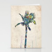 palm tree Stationery Cards featuring Palm Tree by Taylor Payne