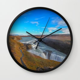 Gulfoss. Wall Clock
