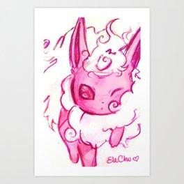 Flareon kawaii Art Print