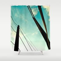 bridge Shower Curtains featuring *Bridge* by Sybille Rotondo Photography