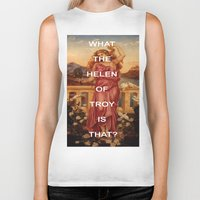 helen Biker Tanks featuring Triple Helen by Beastie Boys Art History