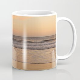 Seagull enjoying golden hour at the beach Coffee Mug