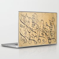 cities Laptop & iPad Skins featuring freehand cities by Vin Zzep