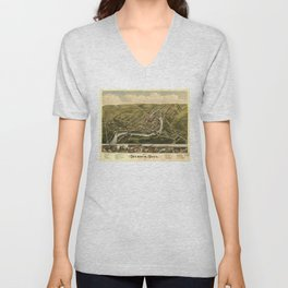 Aerial View of Seymour, Connecticut (1879) Unisex V-Neck