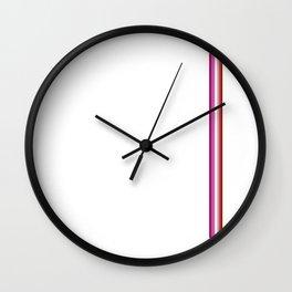 Gay Pride LGBT Subtle Lipstick Lesbian Vertical Stripe Wall Clock