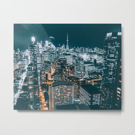 Toronto in the dark Metal Print