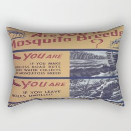 Vintage poster - Mosquito breeder Rectangular Pillow