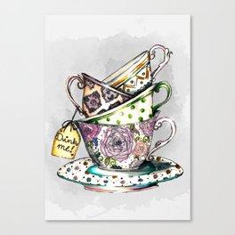 Vintage cups Canvas Print