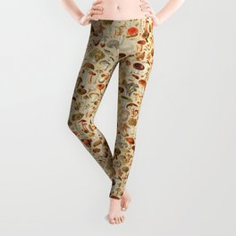 Vintage Mushroom Designs Collection Leggings