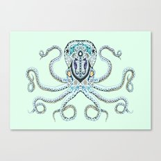 Sugar Skull Octopus Canvas Print
