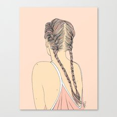 Pretty In Pink Pigtails Canvas Print