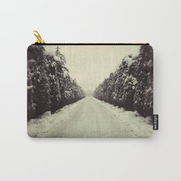 Avenue during a snowing. Carry-All Pouch