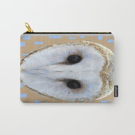Barn Owl Abstract in Blue Carry-All Pouch