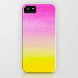 Abstract painting in modern fresh colors iPhone Case